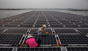 Floating-solar-installation